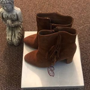 Breckelles booties with fringe